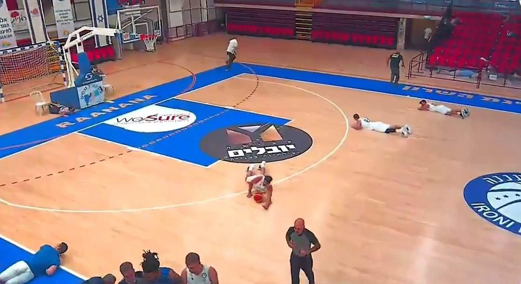 Przerwany mecz koszykówki w Izraelu