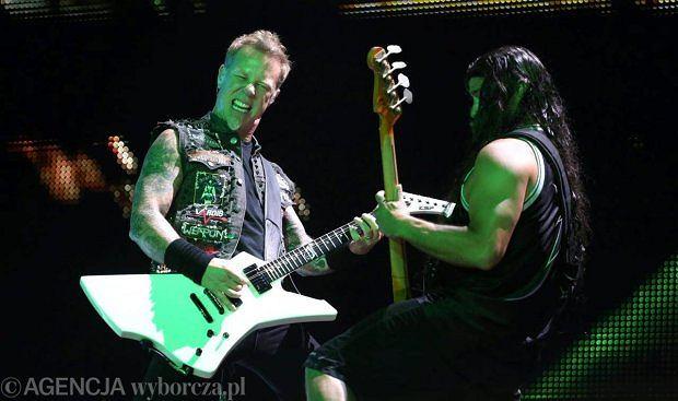 Metallica podczas koncertu na lotnisku Bemowo w 2012 roku