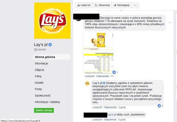 Administrator fanpage'a marki Lay's na Facebooku potwierdza, że popularne przekąski już wkrótce zmienią swój skład