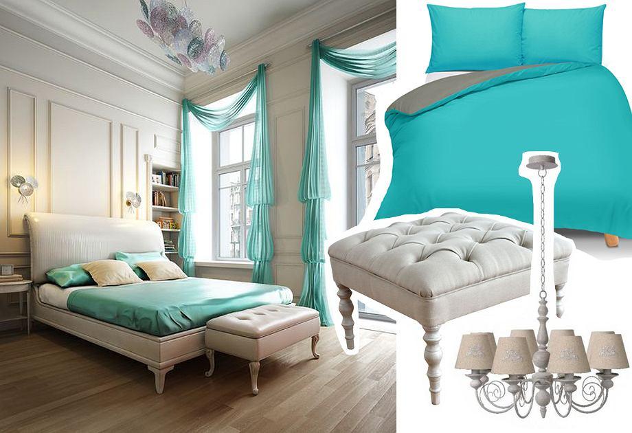 Sypialnia w stylu Tiffany