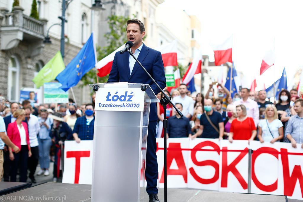 Rafał Trzaskowski w Łodzi