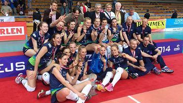 Siatkarki Atomu Trefl Sopot cieszą się z brązowych medali Orlen Ligi