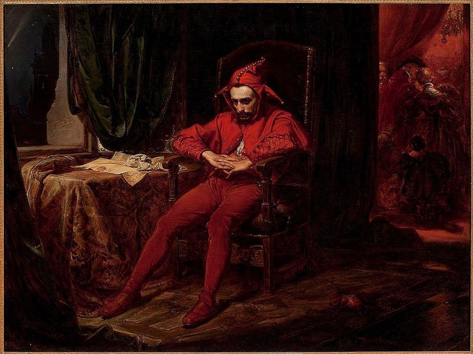 Stańczyk w czasie balu na dworze królowej Bony, kiedy wieść przychodzi o utracie Smoleńska