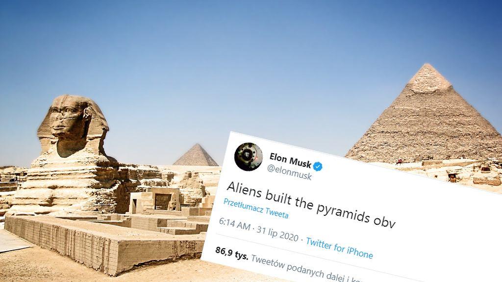 Elon Musk: Kosmici zbudowali piramidy