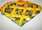 Tarta ze szpinakiem i serkiem kremowym - Zdjęcia