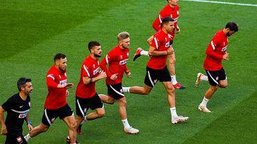 Reprezentacja Polski podczas treningu.