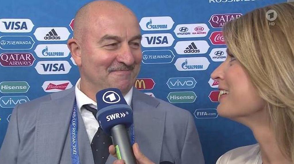 Stanisław Czerczesow w wywiadzie z niemiecką dziennikarką