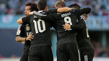 Celta Vigo - Real Madryt 2:4. Radość graczy Realu