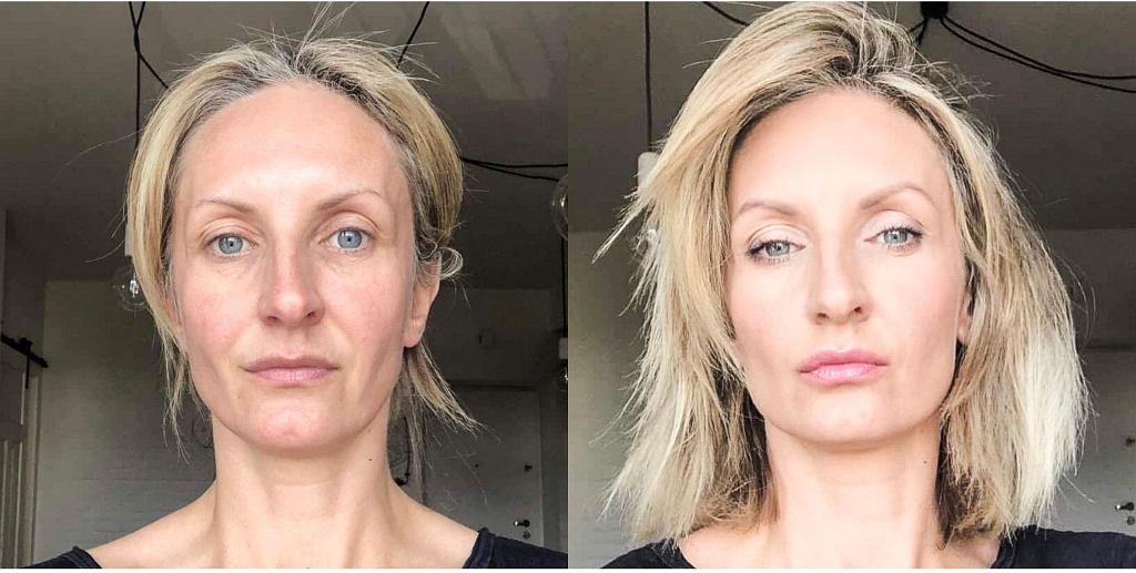 Joanna Łukijańczuk. Makeupartist 'MAKEUP&MORE'. Zdjęcie przed i po.