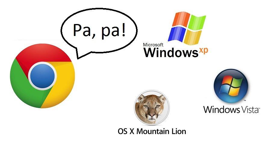 Google Chrome porzuca wsparcie dla XP, Vista, OS X 10.8