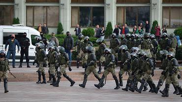 Milicja na ulicach Mińska, 27 sierpnia 2020 r.