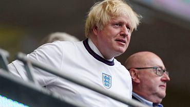 Premier Wielkiej Brytanii Boris Johnson podczas finałowego meczu Euro 2020 Anglia - Włochy