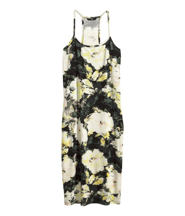 w kwiaty, h&m, sukienka