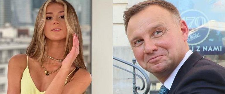 Andrzej Duda zareagował na najnowsze zdjęcie Roksany Węgiel