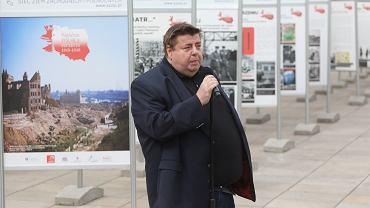 Piotr Semka zdj. z 2020 roku podczas otwarcia wystawy ''Najdalsza Polska - Szczecin 1945 - 1946''
