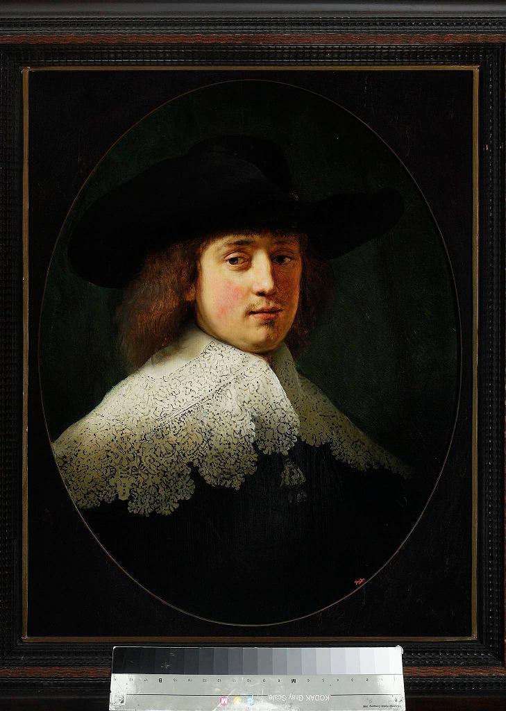 / Rembrandt van (1606-1669) (malarz, i warsztat); Portret Maertena Soolmansa (1613-1641) DYTKOWSKI MAREK H.
