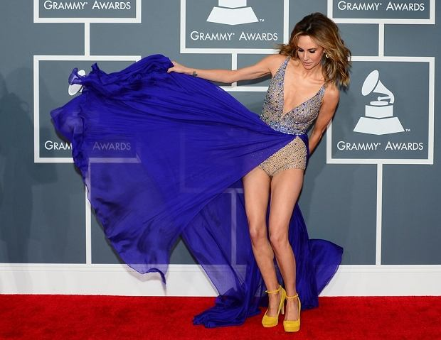 Model Keltie Colleen arrives at the Staples Center for the 55th Grammy Awards in Los Angeles, California, February 10, 2013. AFP PHOTO Frederic J. BROWN