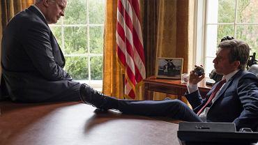 'Vice'. Christian Bale jako Dick Cheney i Sam Rockwell jako George W. Bush