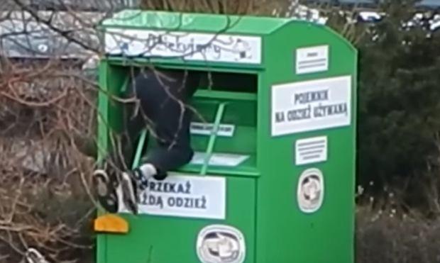 Kradzież ubrań z kontenera