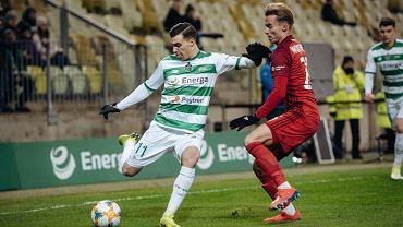 Lechia Gdańsk - Wisła Kraków 1:0. Z lewej Konrad Michalak