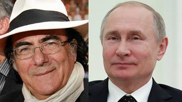 Włoski piosenkarz Al Bano i prezydent Rosji Władimir Putin