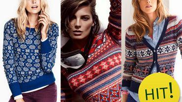 HIT: Ubrania w zimowe wzory