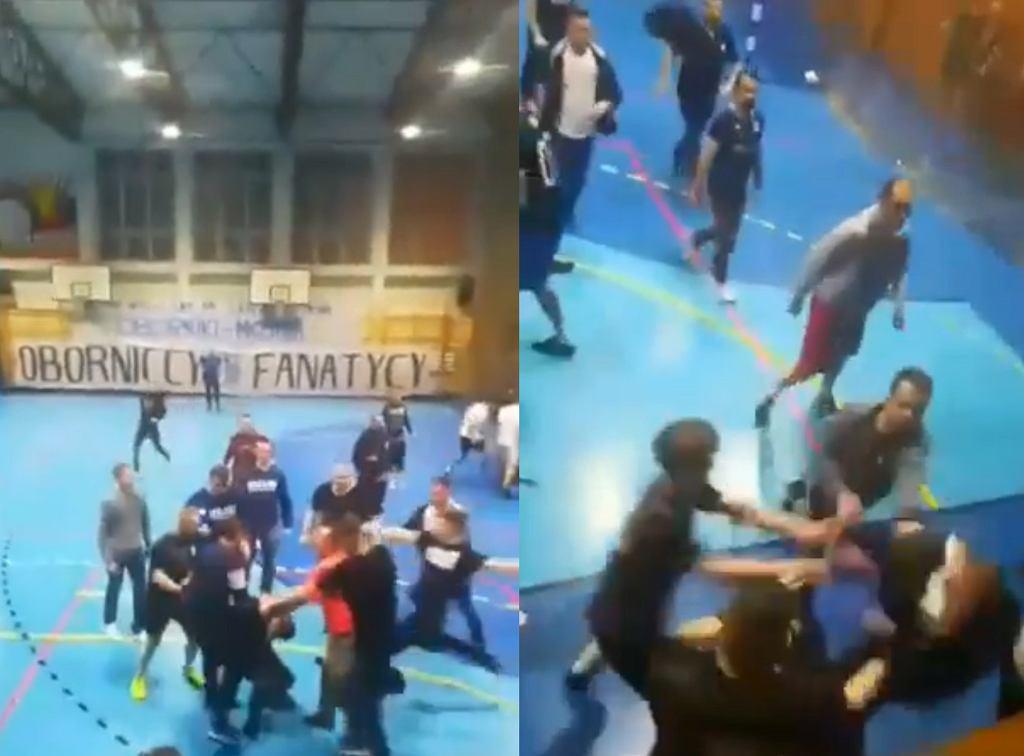 Bójka pseudokibiców podczas turnieju charytatywnego w Obornikach.