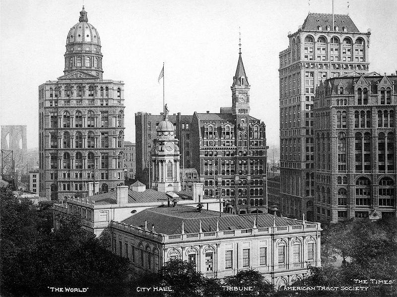 Widok na ulicę Park Row około 1906 roku