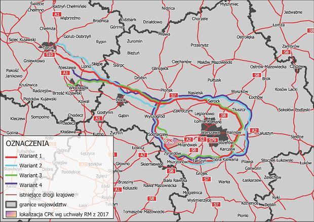 Trasa S10, Obwodnica Aglomeracji Warszawskiej