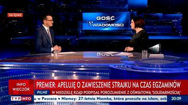 Premier Mateusz Morawiecki w TVP