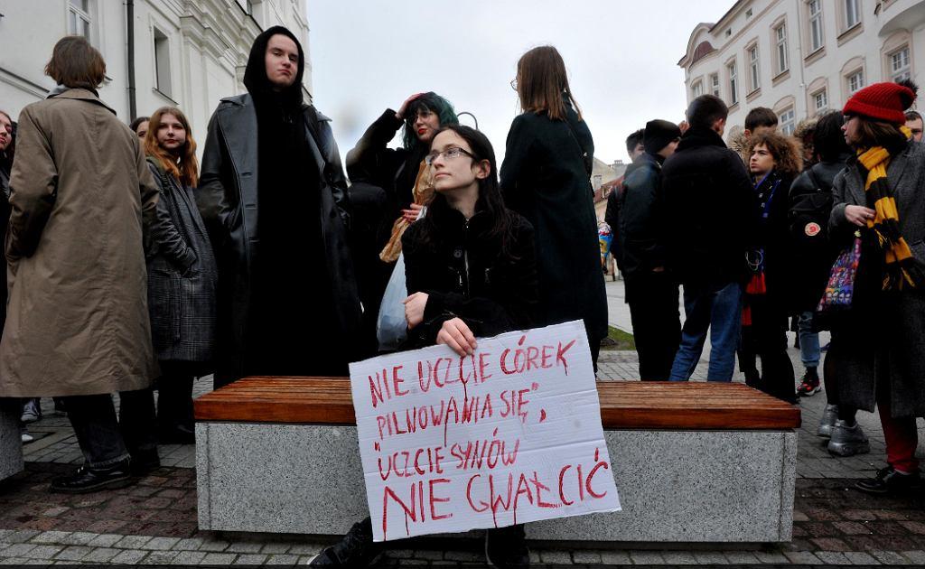 Protest w rzeszowskim liceum