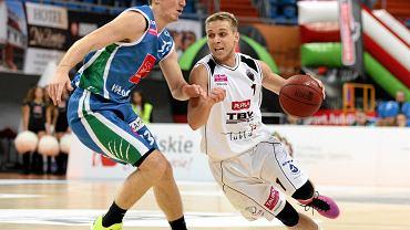 Start Lublin - Anwil Włocławek 62:97. Z piłką Jan Grzeliński