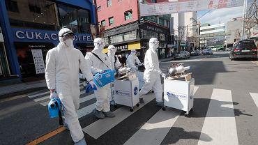 Odkażanie ulic Seulu