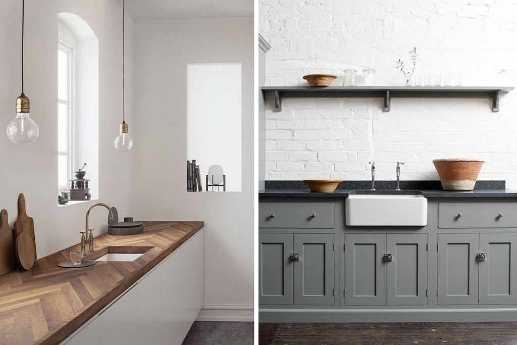 Ceramiczny zlew do kuchni: podwieszany i wpuszczany w szafkę.