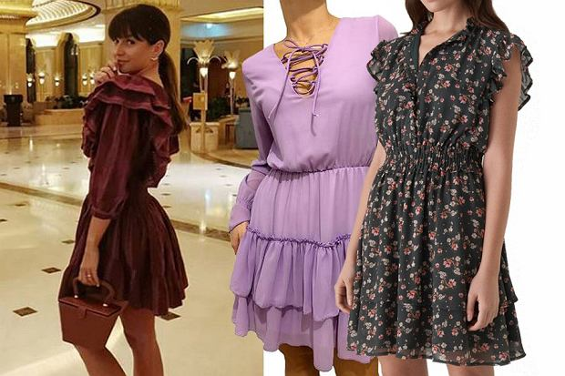 sukienka z falbanami, fot. mat. partnera,www.instagram.com/annalewandowskahpba/