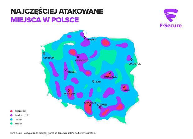Najczęściej atakowane miejsca w Polsce