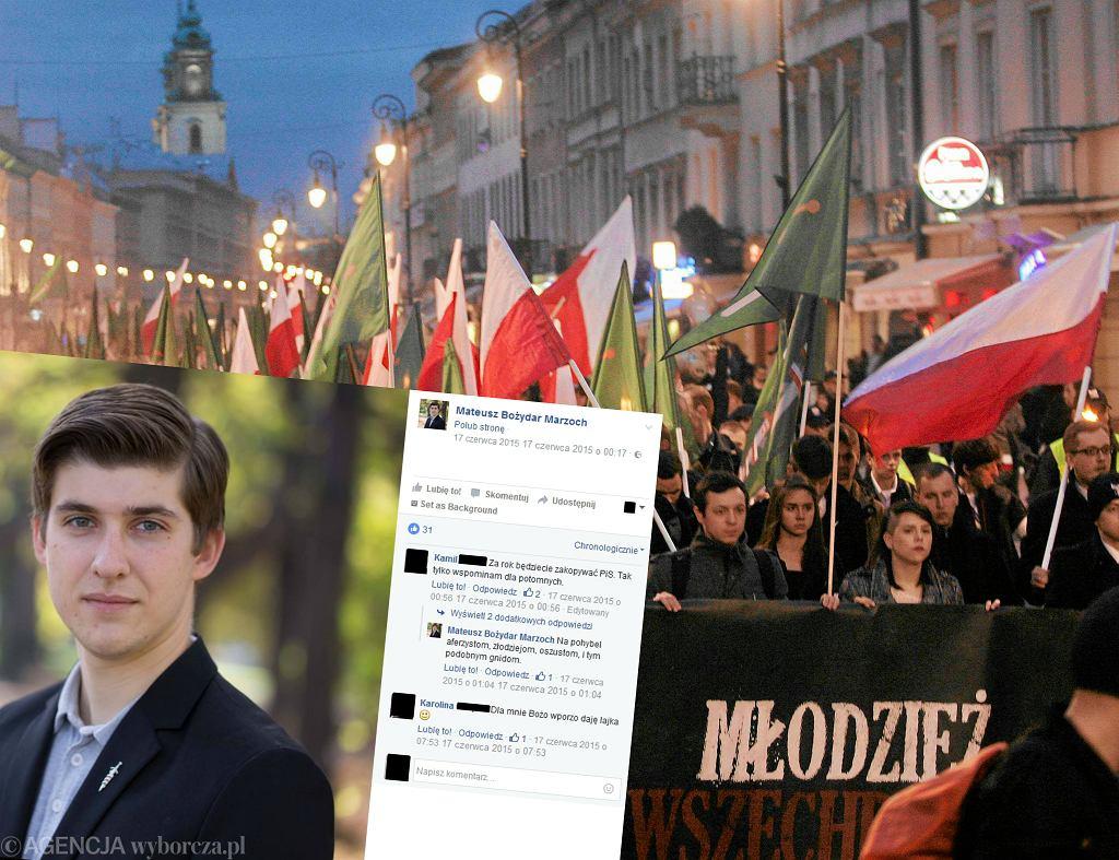 Mateusz Bożydar Marzoch, marsz Młodzieży Wszechpolskiej