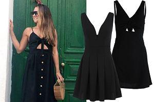czarna sukienka/mat. partnera/www.instagram.com/annalewandowskahpba