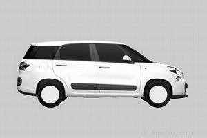 Fiat 500XL - szkice patentowe wyciekły do sieci
