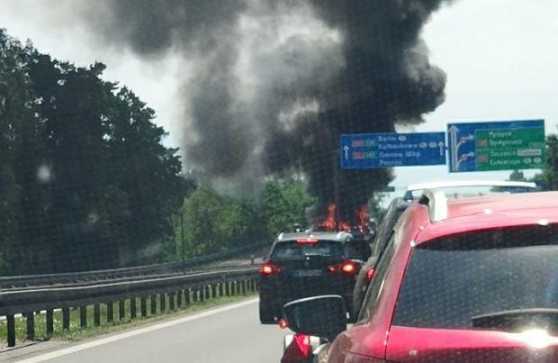 Wypadek na A6 pod Szczecinem. Spłonęło pięć samochodów, sześć ofiar śmiertelnych