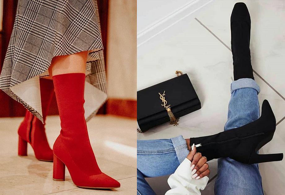 60455fb3 Botki skarpetkowe - modne buty jesienne. Do czego pasują botki z ...