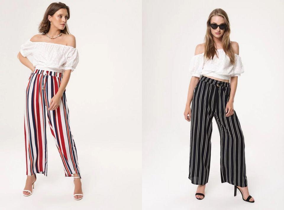 Spodnie w geometryczne wzory