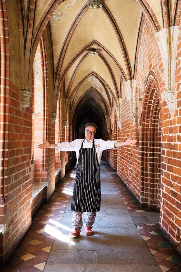 Bogdan Gałązka - szef kuchni i współwłaściciel restauracji Gothic na zamku w Malborku