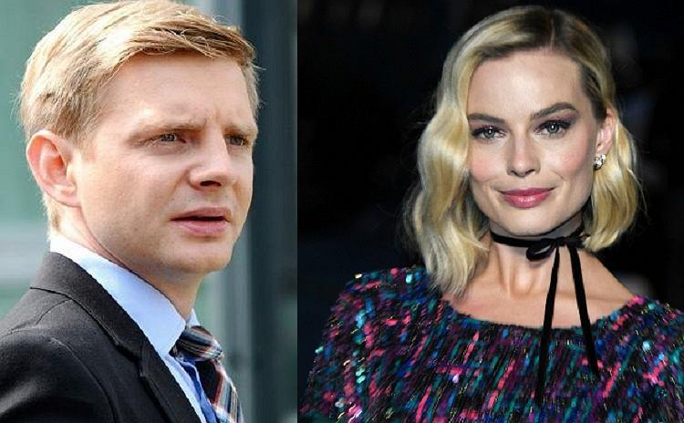 Margot Robbie i Rafał Zawierucha na planie filmu Quentina Tarantino