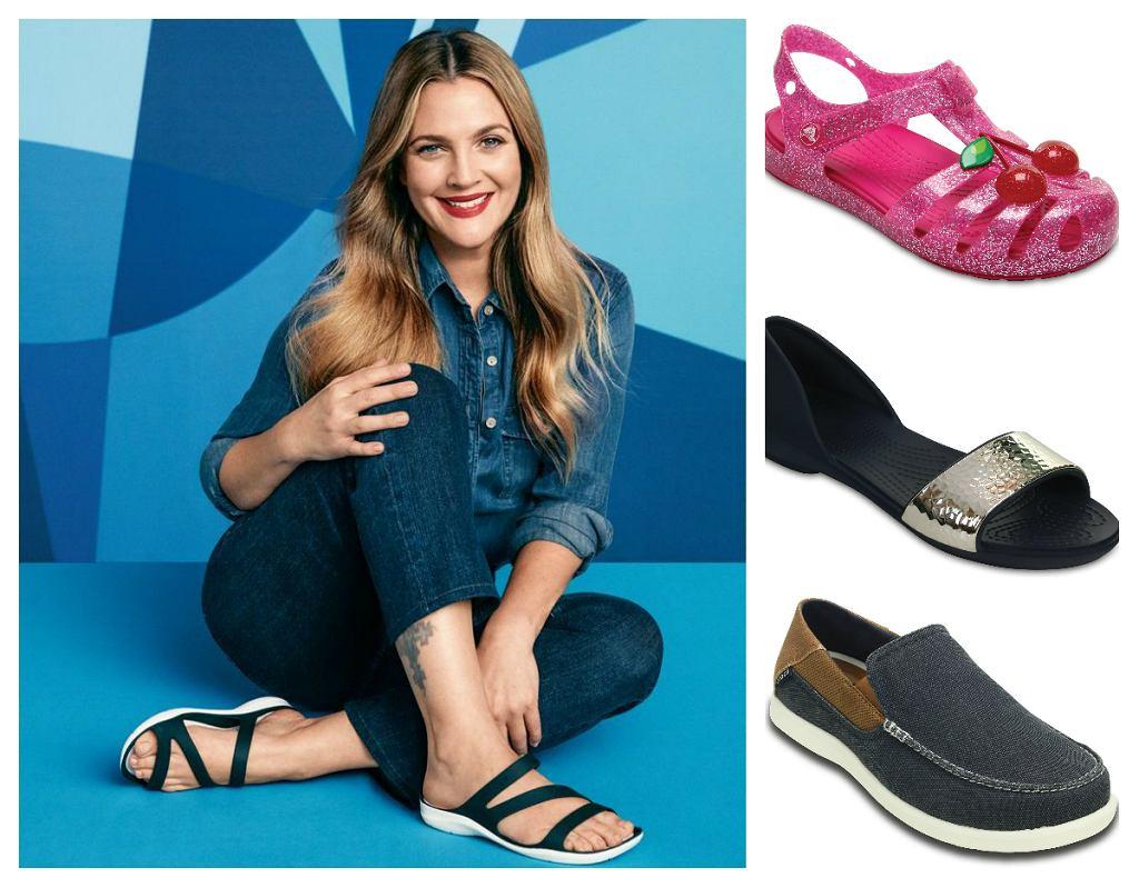 Drew Barrymore i buty Crocs