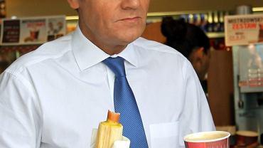 Donald Tusk podczas kampanii wyborczej