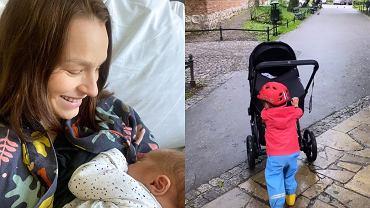 Anna Starmach na spacerze z rodziną