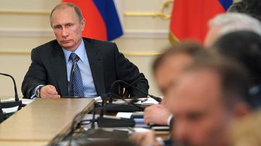 Władimir Putin na spotkaniu z rządem
