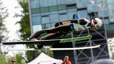 Kamil Stoch podczas letniego Grand Prix w Wiśle