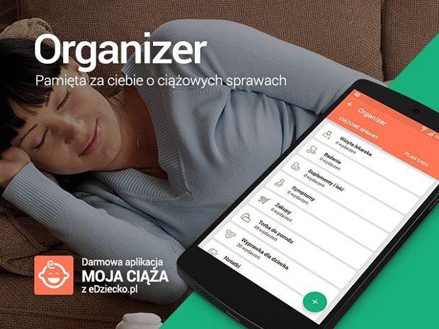 Organizer aplikacja Moja Ciąża z eDziecko.pl